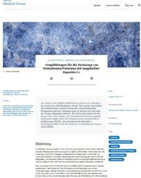Jahresbericht Hepatitis Schweiz 2020