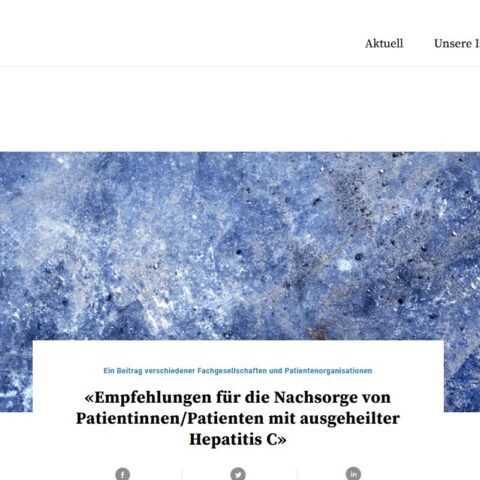 Empfehlungen für die Nachsorge von geheilten Hepatitis-C-Patientinnen und Patienten